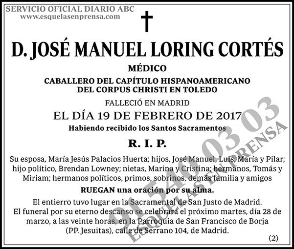 José Manuel Loring Cortés